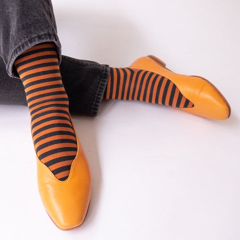 socks caramel stripe - Portobello Lane