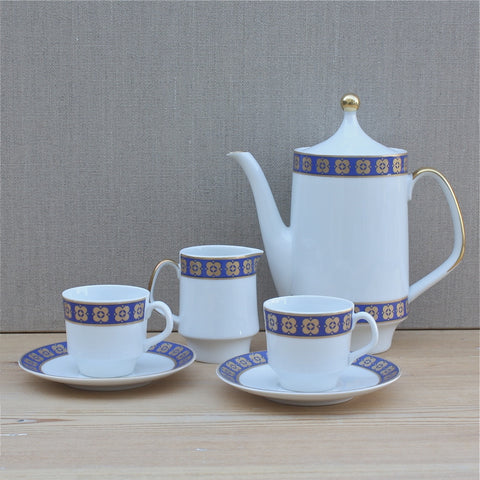 Schumann Arzberg Bavaria porcelain coffee for two set - Portobello Lane Vintage - Portobello Lane