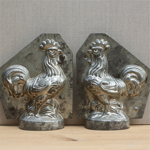 vintage French rooster chocolate mould - nous deux & the Cat - Portobello Lane