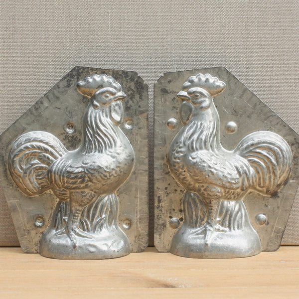 vintage French petit rooster chocolate mould - nous deux & the Cat - Portobello Lane