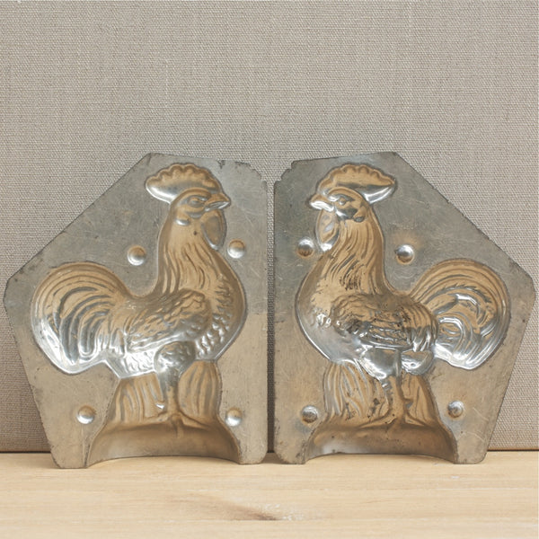 vintage French rooster chocolate mould petit - nous deux & the Cat - Portobello Lane