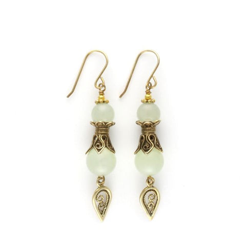 antique earrings quartz green - Art de Vidal - Portobello Lane