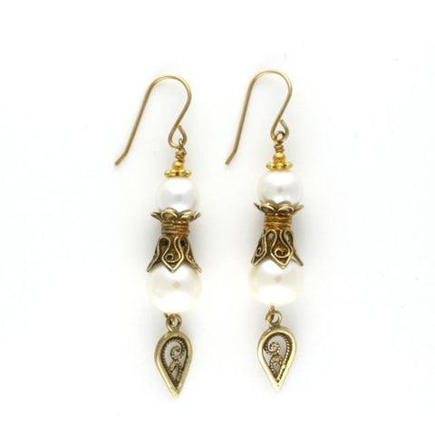 antique earrings pearl