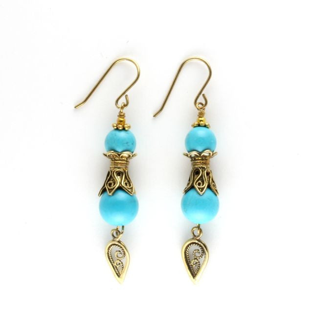 antique earrings turquoise - Art de Vidal - Portobello Lane