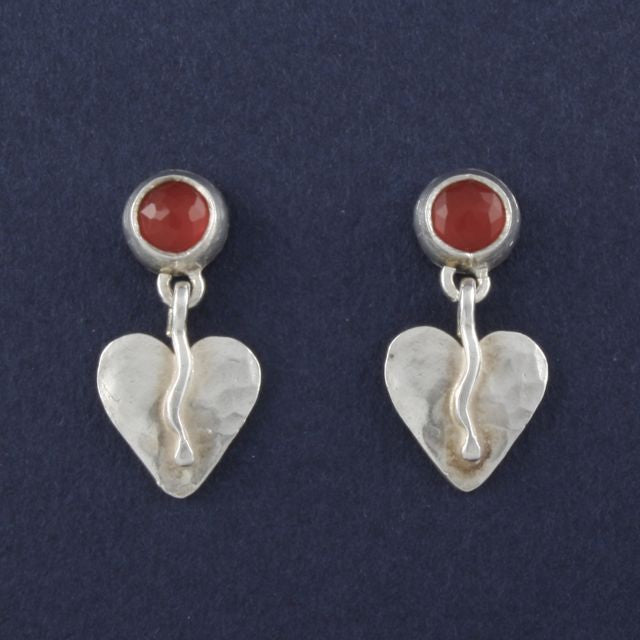 heart earrings - Ruth - Portobello Lane