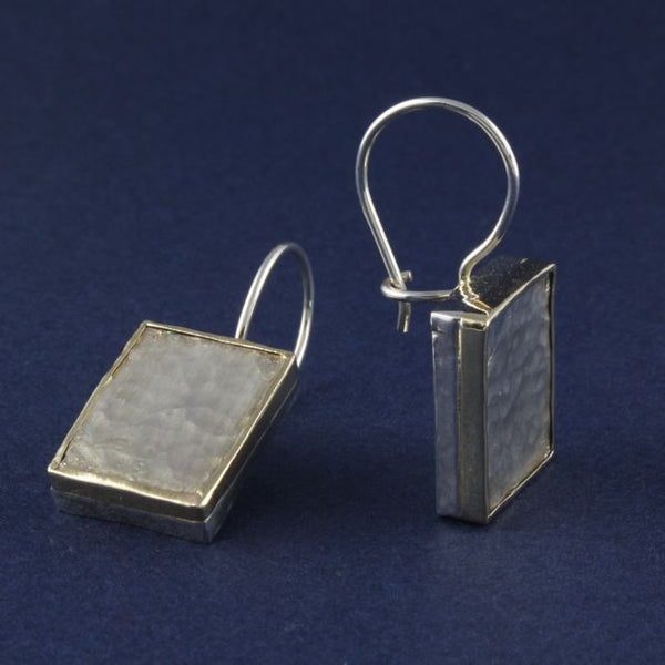 silver & gold edge earrings - Ithil Metalworks - Portobello Lane