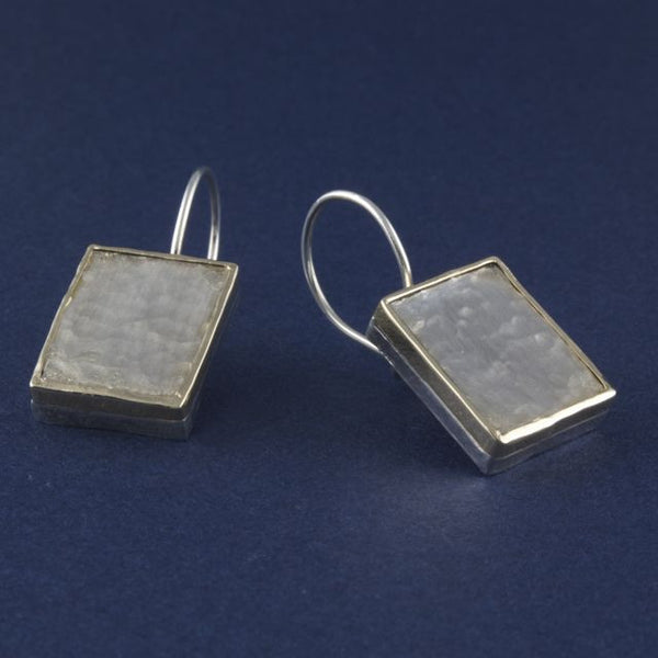 silver & gold edge earrings - Portobello Lane