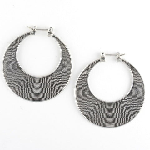 new moon crescent earrings - Gianni Frisone - Portobello Lane