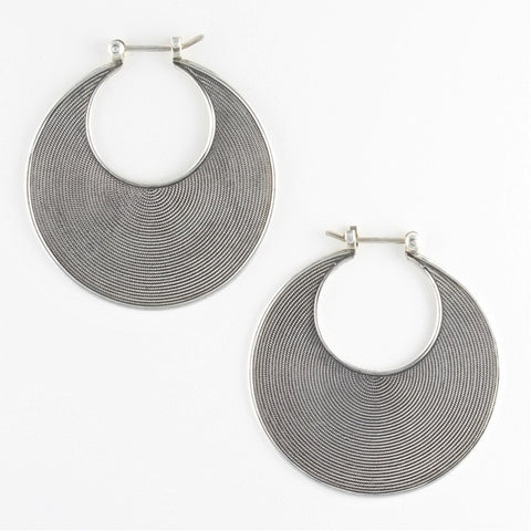full moon crescent earrings - Gianni Frisone - Portobello Lane