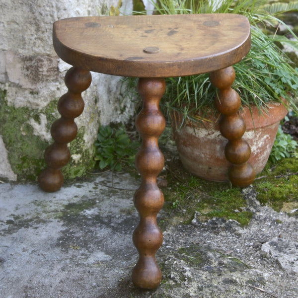 SOLD, vintage French farmhouse stool - nous deux & the Cat - Portobello Lane