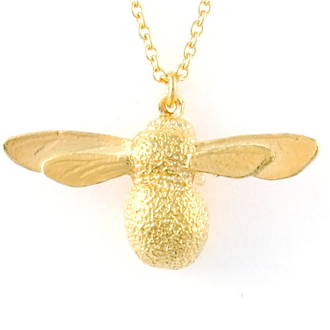 bumblebee necklace gold - Alex Monroe - Portobello Lane