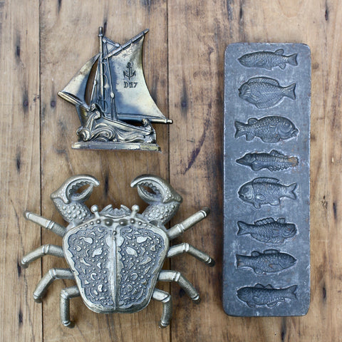 antique French chocolate mould - nous deux & the Cat - Portobello Lane