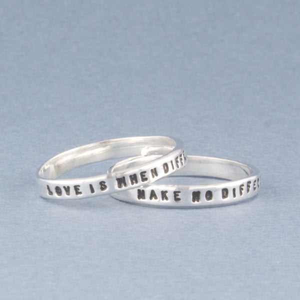 love is when.... fine ring set