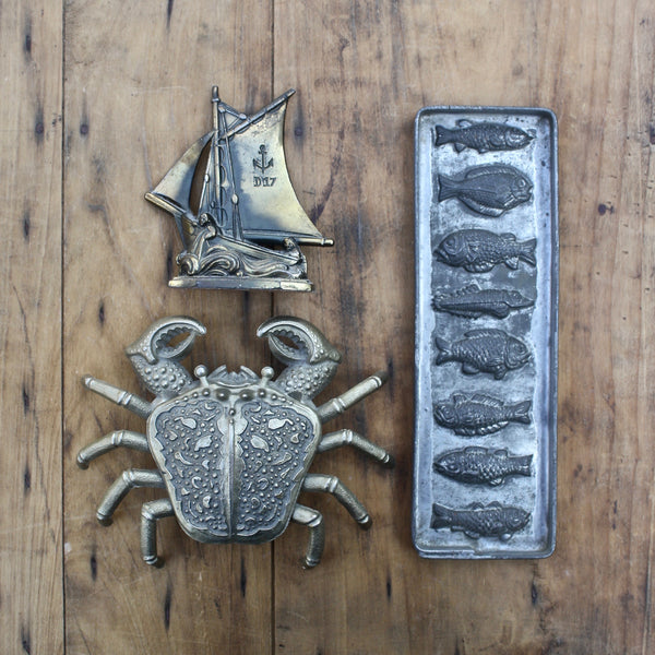 SOLD! antique French chocolate mould - nous deux & the Cat - Portobello Lane