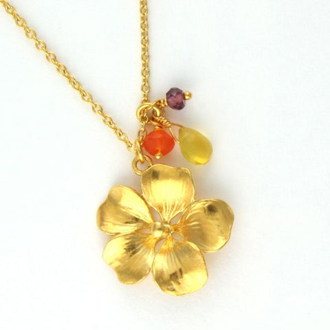 pomegranate flower necklace - Alex Monroe - Portobello Lane