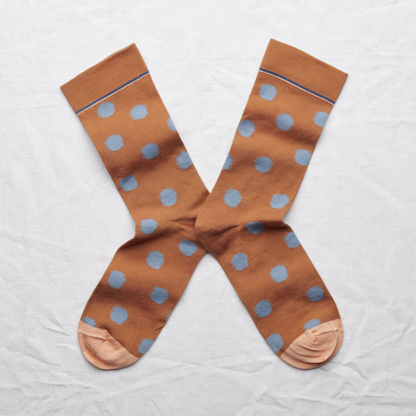 socks polka dot caramel - Portobello Lane