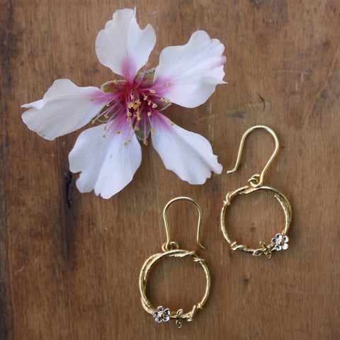 posy loop earrings - Alex Monroe - Portobello Lane