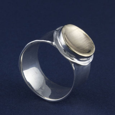 silver & gold ring round - Ithil Metalworks - Portobello Lane