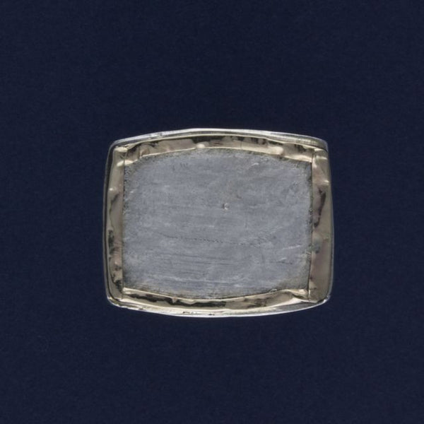 silver & gold fold edge ring