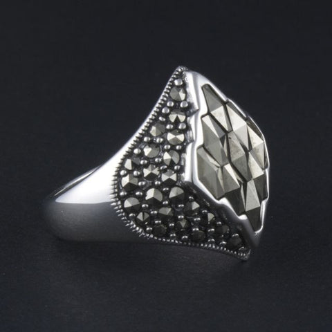 art deco ring diamond - Portobello Lane