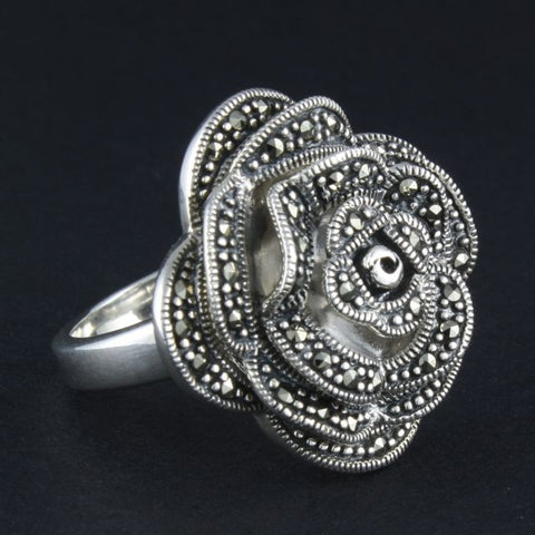 marcasite ring rose - Belle Artes - Portobello Lane