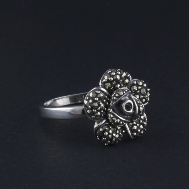 marcasite rose ring petite - Belle Artes - Portobello Lane