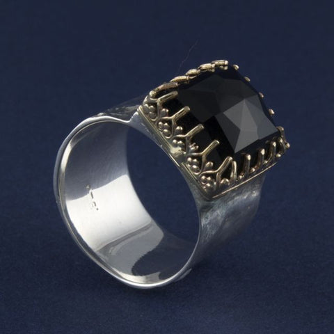 onyx ring square - Ithil Metalworks - Portobello Lane