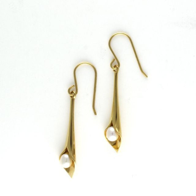 mini lily earrings pearl - Art de Vidal - Portobello Lane