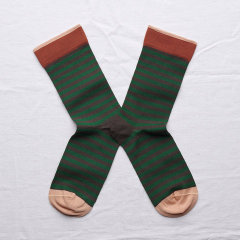 socks umber stripe - Portobello Lane
