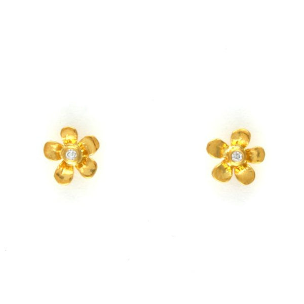 diamond Calabria flower stud earrings - Alex Monroe - Portobello Lane