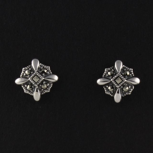 marcasite stud earrings - Belle Artes - Portobello Lane