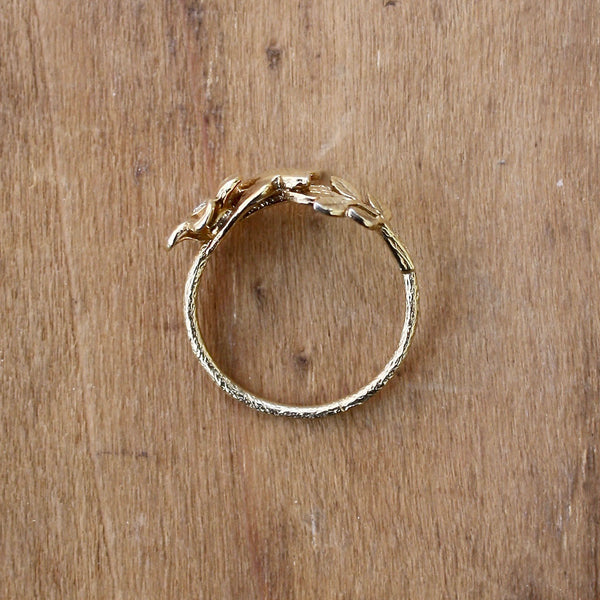 swallow and flower ring - Alex Monroe - Portobello Lane