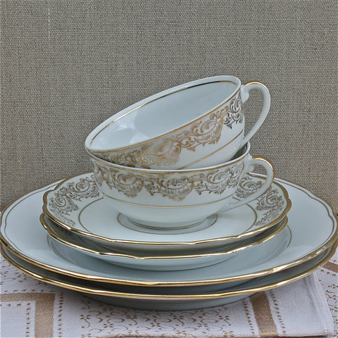 vintage French tea for two set - Rococo - nous deux & the Cat - Portobello Lane
