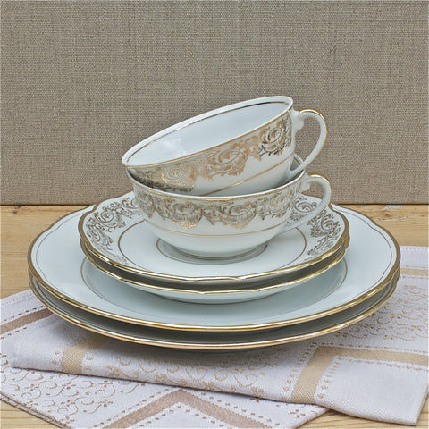 vintage french tea for two set - Rococo