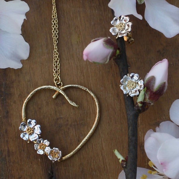 wild rose heart necklace - Alex Monroe - Portobello Lane