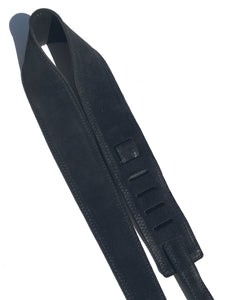 Suede Guitar Strap Black Adjustable Acoustic Electric Bass Made In USA