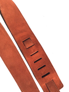 Suede Guitar Strap Rust Adjustable Acoustic Electric Bass Made In USA