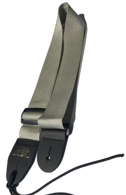 A Guitar Strap Silver Gray Nylon Adjustable Acoustic Electric Bass Made In USA