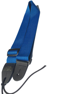A Guitar Strap Royal Blue Nylon Adjustable Acoustic Electric Bass Mandolin Made In USA