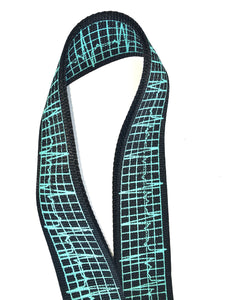 Guitar Strap EKG Readout On Nylon Adjustable Acoustic Electric Bass Made In USA