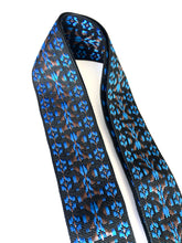 A Guitar Strap Black Blue Brown Woven Nylon 60's Folk Style Adjustable Acoustic Electric Bass Mandolin Made In USA