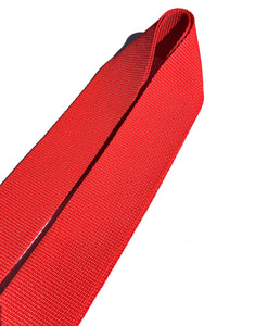 A Guitar Strap Red Nylon Adjustable Acoustic Electric Bass Mandolin Made In USA