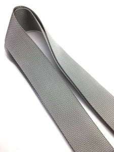 Guitar Strap SILVER GRAY Nylon Solid Leather For Acoustic & Electric Quality Made In U.S.A.