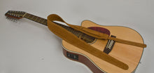 Guitar Strap TAN Suede Leather For Acoustic & Electric & Bass Quality Made In USA