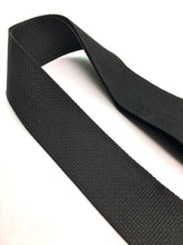 Banjo Strap BLACK Nylon Solid Leather Ends Adjustable Length Quick & Easy Clips Quality Made In U.S.A.