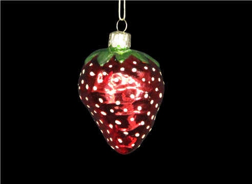 Painted Glass Strawberry Hanging Decoration