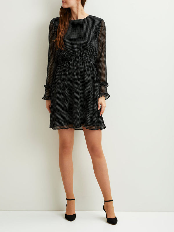 VILA Vidotly Dotted Long Sleeved Dress