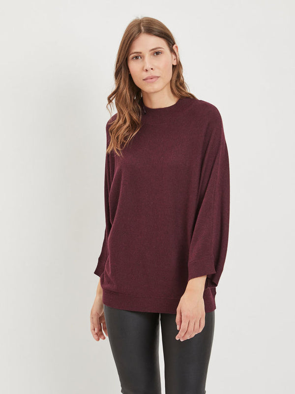 Vila 7/8 Sleeved Knitted Top | Wysteria Lane