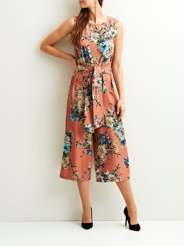VILA Viriana Flower Patterned Jumpsuit