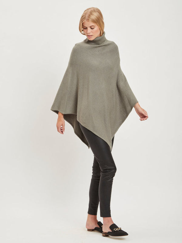 VILA Viril Dark Grey Poncho